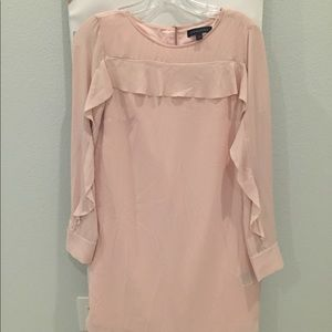 Banana Republic Pink Ruffled Sleeve Dress